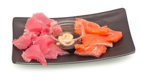 Sashimi op plaat stock fotografie