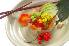 Sashimi op Rijst royalty-vrije stock afbeelding
