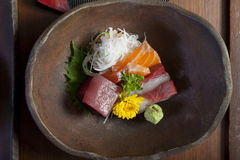 Sashimi on the plate Stock Images