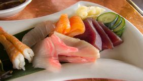 Sashimi on a plate Stock Images