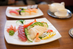 Sashimi plate Royalty Free Stock Images