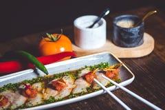 Sashimi on plate Stock Image