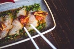Sashimi on plate Stock Photos