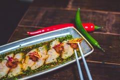 Sashimi on plate Stock Images