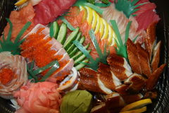Sashimi platter. With all sort of fresh fish Stock Images