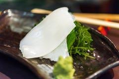 Sashimi przegrzebek - Japoński jedzenie, Tokio, Japonia Zakończenie obrazy royalty free