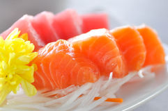 Sashimi,raw fish or raw tuna in Japanese style royalty free stock photography