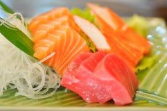 Sashimi, raw fish or raw tuna. Dish royalty free stock photography