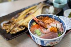 Sashimi raw fish Stock Images