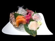 Sashimi raw seafood in luxury Japanese restaurant Stock Photos