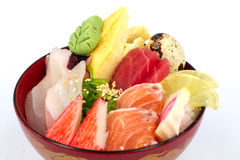 Sashimi with rice Stock Photo