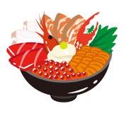 Sashimi Rice Bowl Stock Images