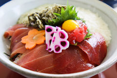 Sashimi Rice Bowl Royalty Free Stock Images