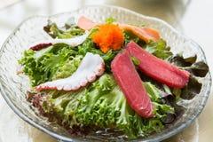 Sashimi salad Royalty Free Stock Images