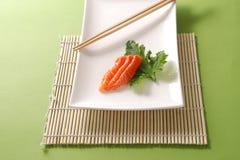 Sashimi Salmon Fotografia de Stock