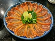 Sashimi salmon in the dish, Japanese food,  Japan Stock Images