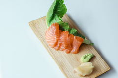 Sashimi Salmon fresco Fotos de Stock Royalty Free
