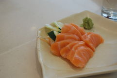 Sashimi Salmon. Fresh Pacific salmon Stock Image
