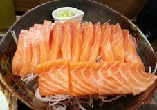 Sashimi salmon, Japanese food, japan Stock Photography