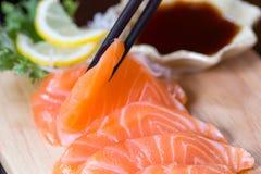 Sashimi, Salmon, Japanese food Stock Photos
