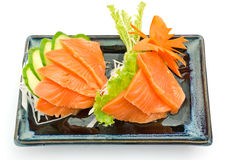 Sashimi salmon on plate, Japanese food Royalty Free Stock Image