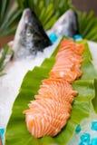 Sashimi salmon set Stock Images