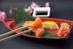 Sashimi saumoné Photo libre de droits