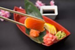 Sashimi saumoné Photographie stock