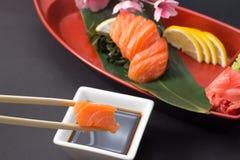Sashimi saumoné Images stock