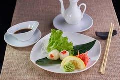 Sashimi with scallop Stock Image