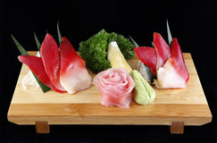 Sashimi of sea clams or Hottkigai Royalty Free Stock Photos