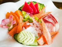 Sashimi seafood set Royalty Free Stock Photos