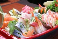 Sashimi set. Oyster Seafood Prepared Oysters Freshness rice heart salmon sashimi Stock Images