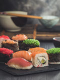 Sashimi set closeup Royalty Free Stock Photos