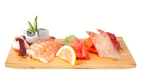 Sashimi set isolated on white Royalty Free Stock Photo
