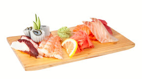 Sashimi set isolated on white Royalty Free Stock Photos