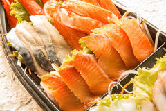 Sashimi set in the package Royalty Free Stock Image
