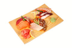 Sashimi set isolated on white Royalty Free Stock Image
