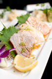 Sashimi set with raw fish Royalty Free Stock Photography