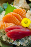 Sashimi set of salmon, tuna, Japanese food Stock Images