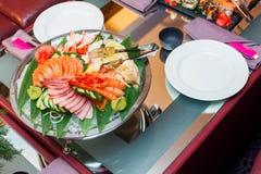 Sashimi set served table Stock Image
