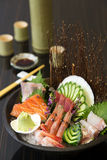 Sashimi set on table Royalty Free Stock Photos