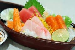 Sashimi sets. Closeup sashimi sets Japanese food royalty free stock photos