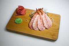 Sashimi shrimp slices Royalty Free Stock Photography