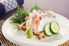 Sashimi squid Stock Images