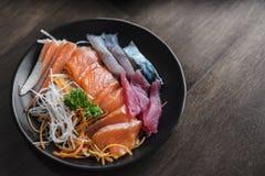 Sashimi sur le plat Photographie stock libre de droits
