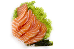 Sashimi sushi  of look delicious of Japanese food. Royalty Free Stock Photography