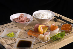 Sashimi table appointments  Royalty Free Stock Photography