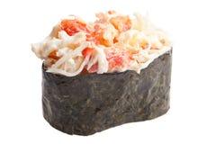 Sashimi tradicional del sushi en el fondo blanco Imagen de archivo
