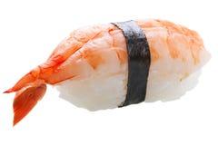 Sashimi tradicional del sushi en el fondo blanco Foto de archivo libre de regalías